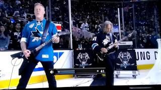 Metallica - National Anthem at (San José Sharks) game