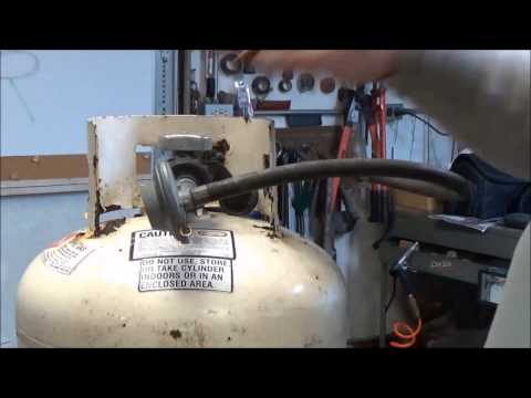how to clean a propane tank before cutting