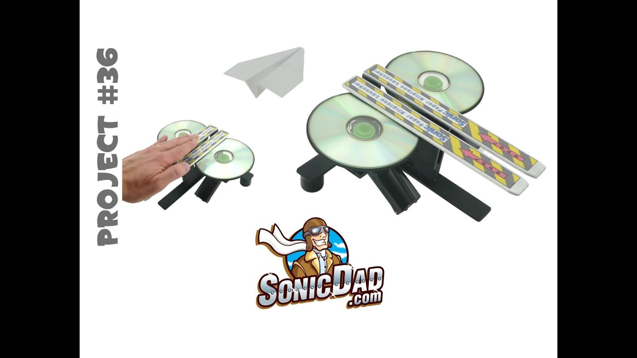 How To Make A Paper Airplane Launcher That Really Rips: Sonicdad Project  #36  Youtube