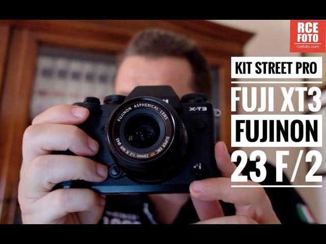Kit Street Pro Fuji xt3 e fujinon 23 f:2