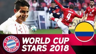 James rodríguez: defending world cup top scorer | fc bayern in russia