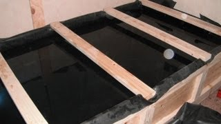 400 Gal Pond/bed Frame Build Part 9.  Pond Is Full.
