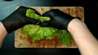 Салат с шампиньонами и сладким перцем