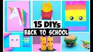 15 BACK TO SCHOOL LIFE HACKS and DIYs - Easy & Cute School Hacks