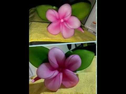 ดอกไม้ประดิษฐ์จากผ้าใยบัว กุลยา