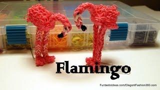 Flamingo Figure/Charm - How to Rainbow Loom Design - Animal Series