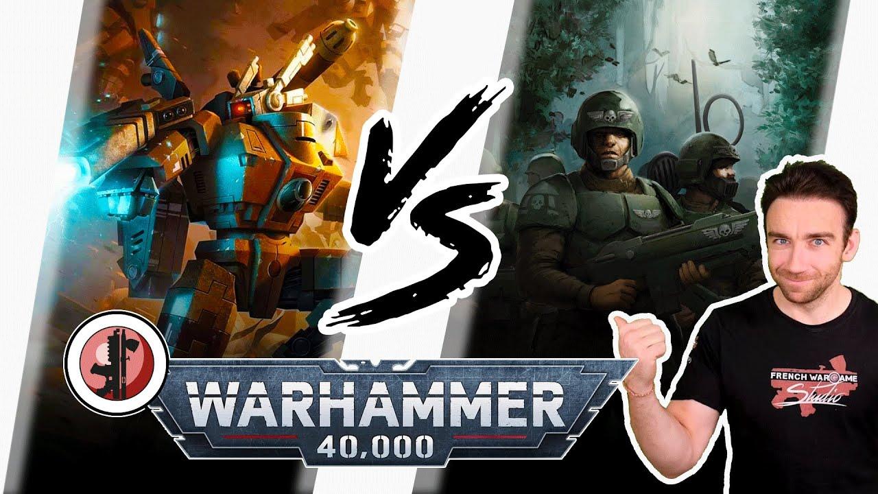 Download Warhammer 40.000 - Rapport de bataille didactique Garde Impériale VS Tau