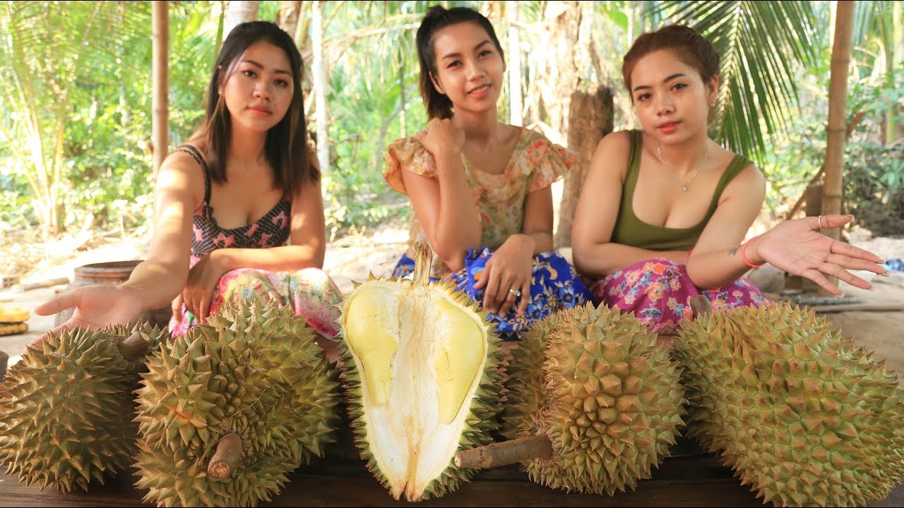 Yummy cooking Dessert Durian with Sticky rice recipe ...