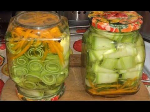 Рецепт Оригинальный рецепт хрустящих маринованных кабачков на зиму