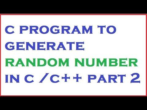 c program to generate random number part 2 in hindi by programming desire