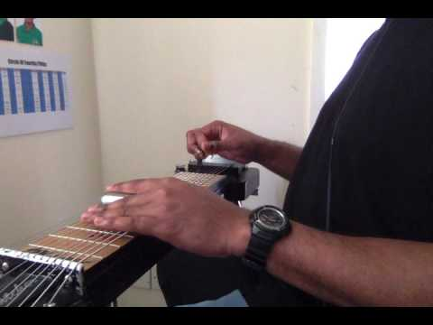 e13th lap steel guitar  2 5 1 6 using 7ths strings 2  to 9