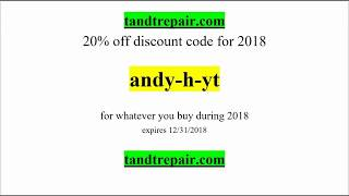 FREE 20% DISCOUNT CODE FOR ANDY TUBE VIEWERS!