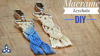 Macrame Keychain DIY - Macrame Key Hanger - Macrame Pattern 2