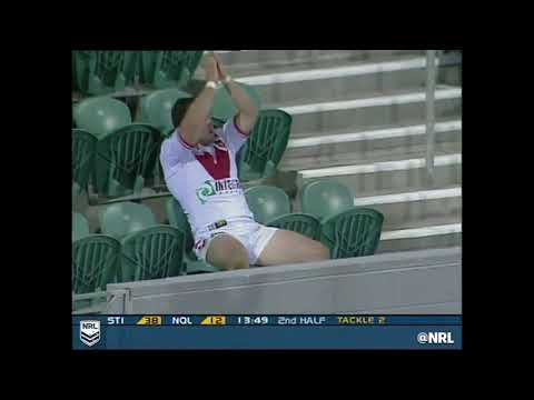 Mark Riddell applauds his own try