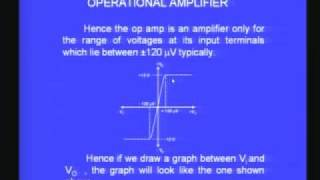 Lecture - 29 Characteristics of Operation Amplifier