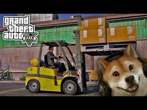 DOGE FÄHRT GABELSTAPLER - GTA 5 REAL LIFE MOD