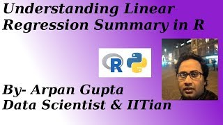 Summary of Linear Regression Model in R