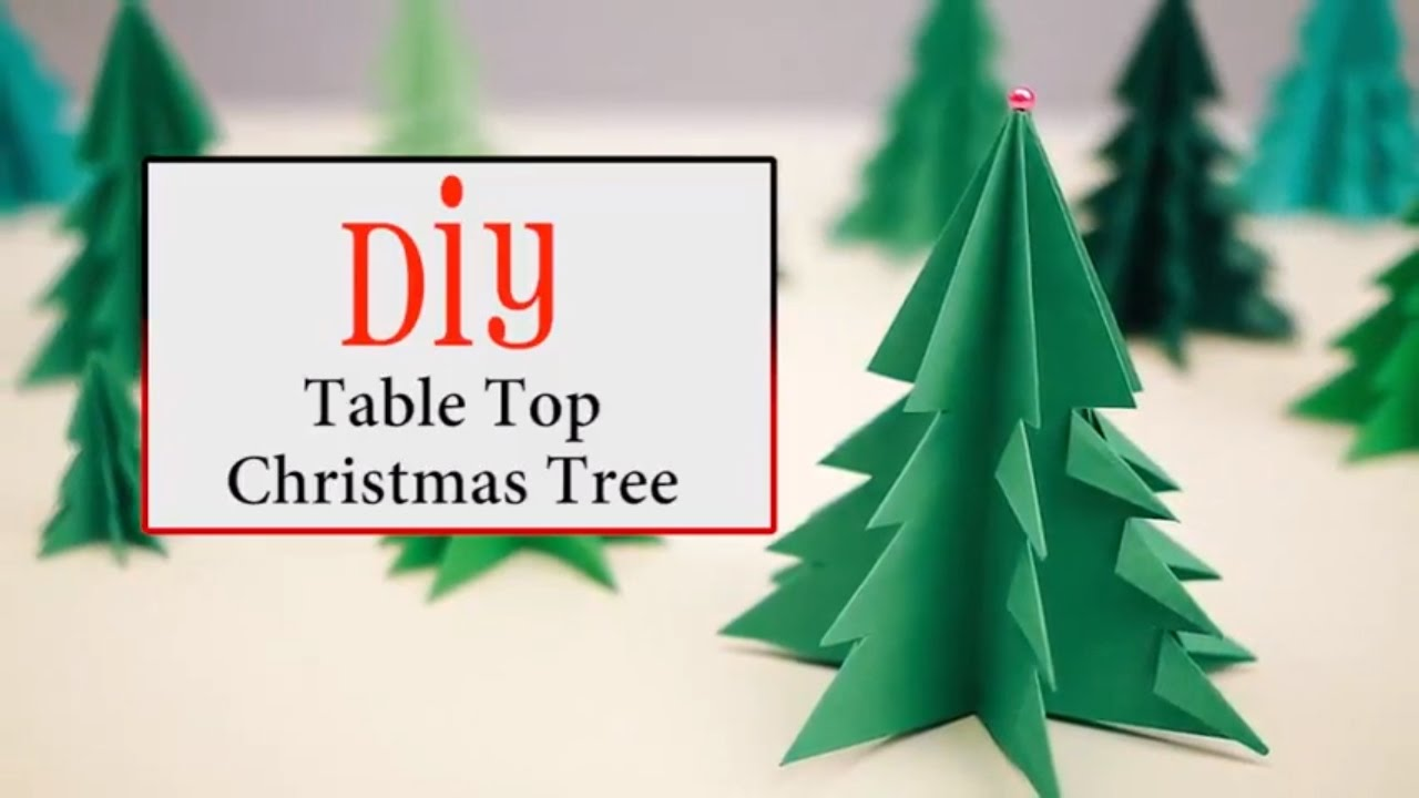 DIY Table Top Christmas Tree Ideas for