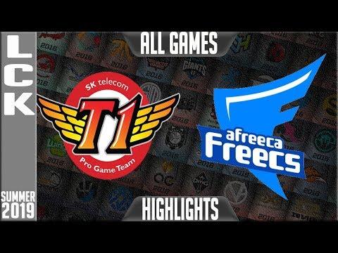 SKT vs AF Highlights ALL GAMES   LCK Summer 2019 Week 8 Day 3   SK Telecom T1 vs Afreeca Freecs