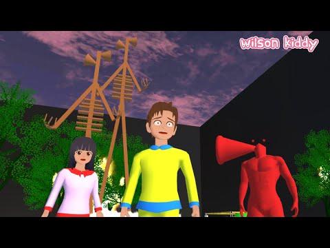 Yuta Mio ke Sarang Siren Head 😱😯   Sakura Simulator   Game Wilson Kiddy
