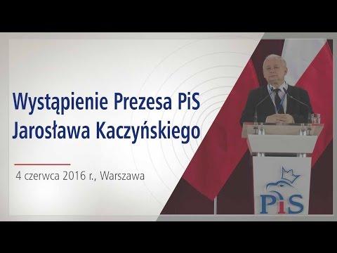 Jarosław Kaczyński - Wystąpienie Prezesa PiS w Warszawie