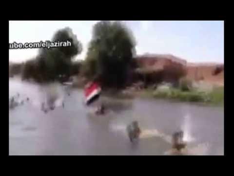مش هتصدق مظاهرة فى ترعة باسيوط ضد السيسى  ههههههههههههههههههه