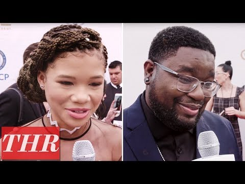 Danielle Brooks, Storm Reid, & Lil Rel Hower Share 'Black Panther' Viewing Plans | NAACP Awards 2018