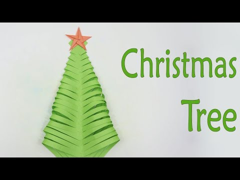 How to Make Christmas Tree with Paper | DIY Paper Christmas Tree Tutorial thumbnail