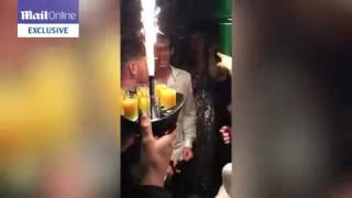 Drunk Andy Murray celebrates his Wimbledon victory