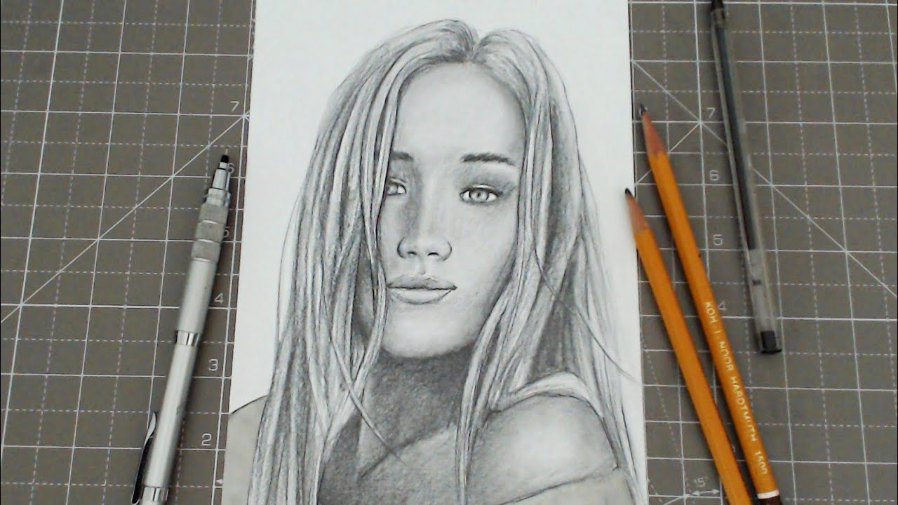 BEGINNERS how to draw a person / pencil portrait: step by ...