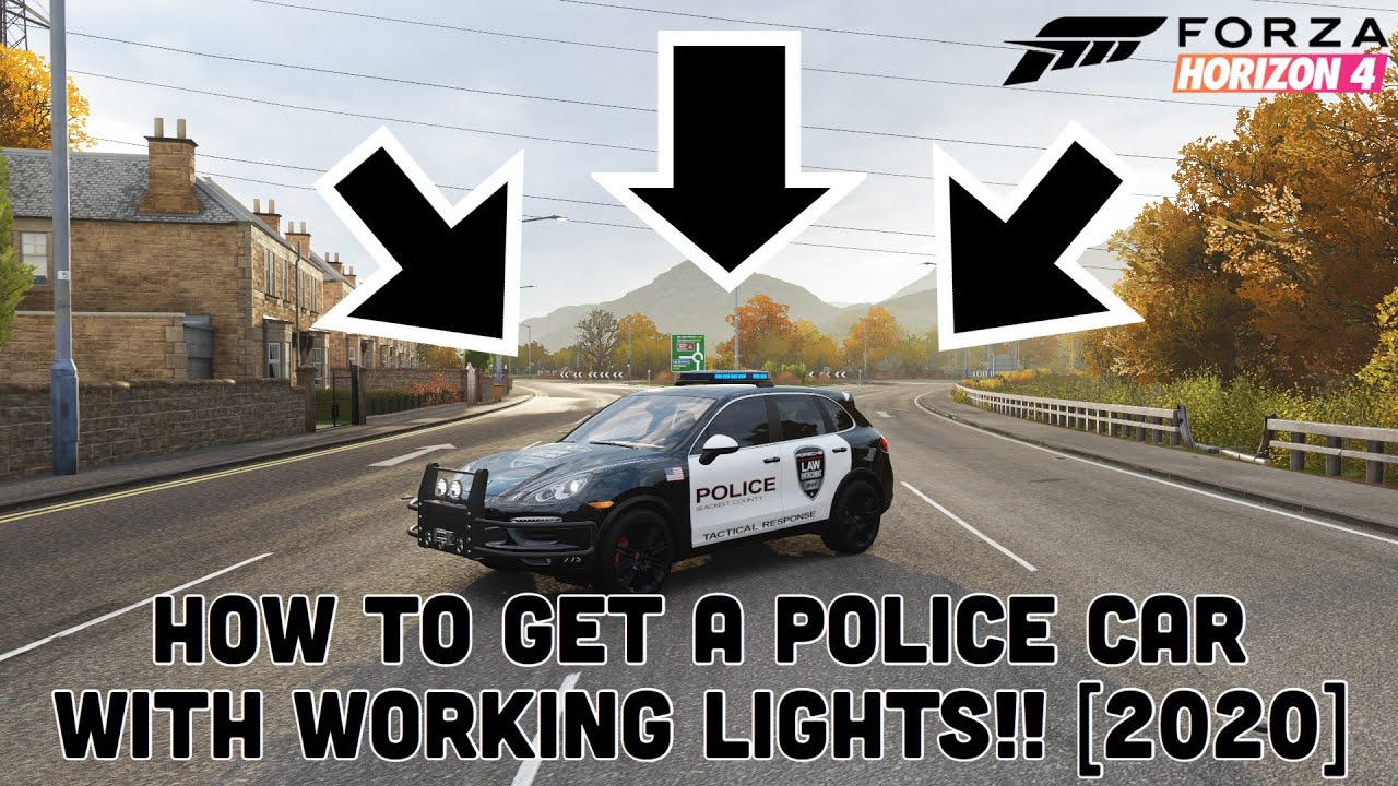 Download How to get a police car with working lights in Forza Horizon 4!! [2020 Updated Edition]
