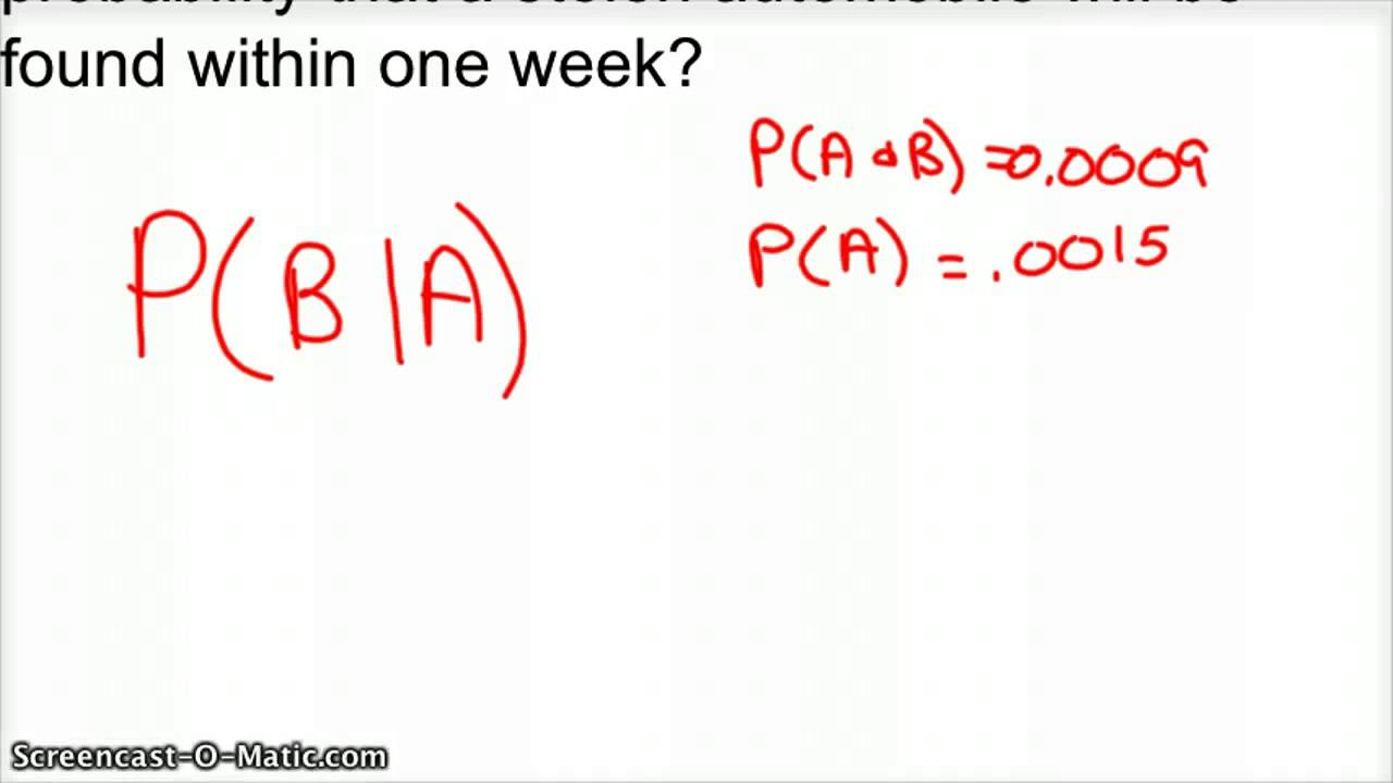 Conditional Probability with Formula - YouTube