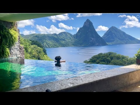 JE2 Sanctuary Room Tour at Jade Mountain Resort St Lucia