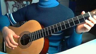 Видеоурок игры на гитаре очень лёгкая песня Player in C