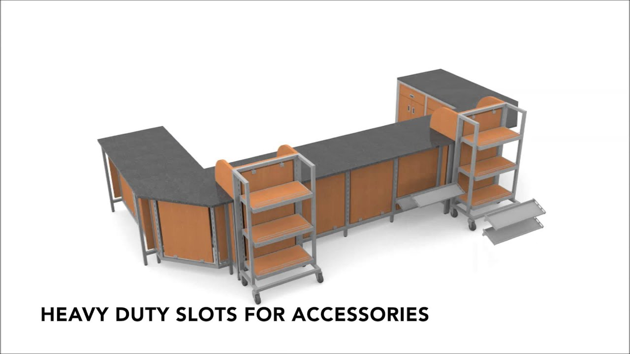 Retail Store Fixtures   Modular Counter System   YouTube