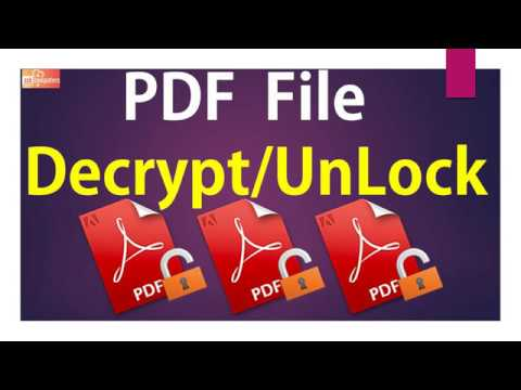 How To Decrypt / Unlock A PDF File | PDFill Software | PDF