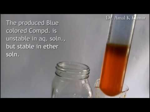 Chem Expt 5 : Reac. of K2Cr2O7 (aq) & Aq. Acidic H2O2 + Ether