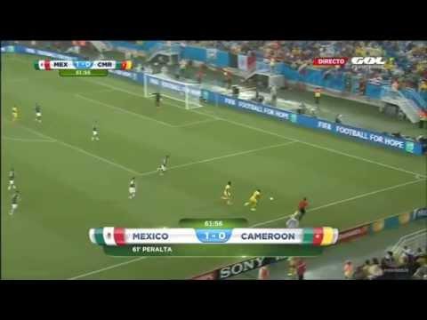 Mexico Vs Cameroon Gooooal PERALTA 1-0