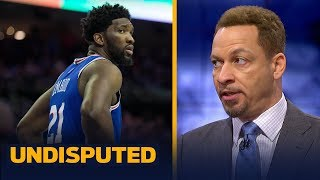Joel Embiid did 'nothing wrong' looking at phone in 76ers' loss — Chris Broussard | NBA | UNDISPUTED