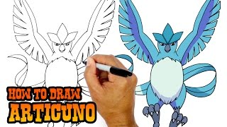 How to Draw Articuno (Pokemon)- Art Lesson for Kids