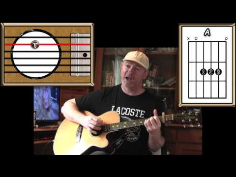 King Of The Road - Roger Miller - Acoustic Guitar Lesson (easy)
