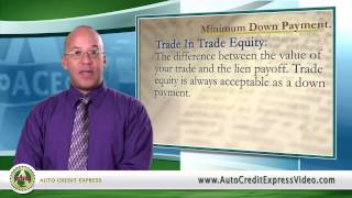 Bad Credit Auto Loan Terminology - Minimum Down Payment