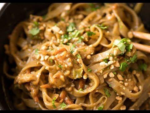 Chicken Noodle Stir Fry With PEANUT SAUCE!