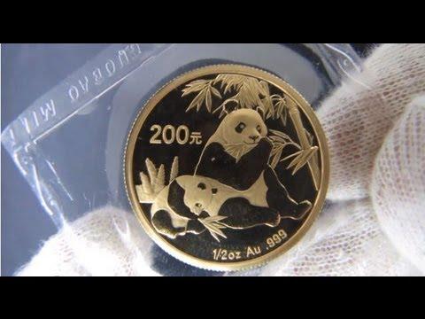 [HD] 2007 Chinese Panda - 1/2 oz Gold Bullion Coin
