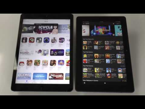 Which Is The Best Kindle Fire HDX Tablet or Ipad Air Look at The Video Review