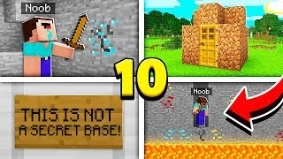 TOP 10 THINGS ONLY NOOBS DO in Minecraft!