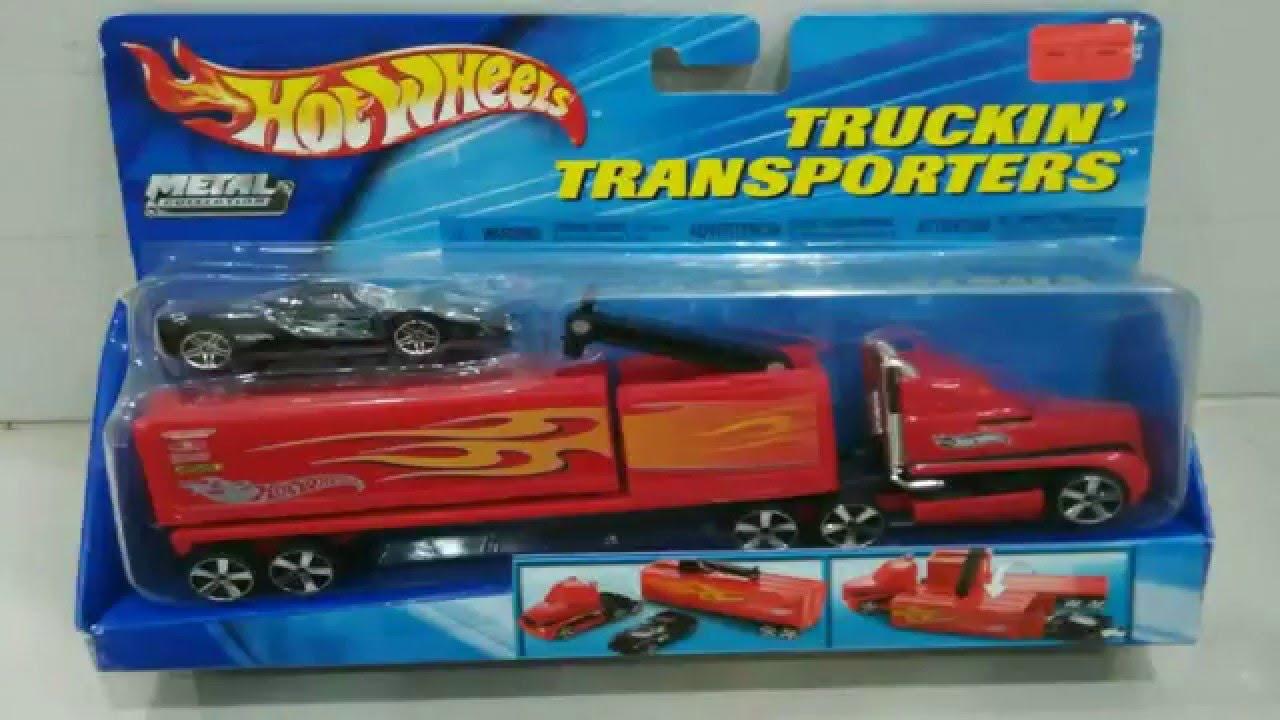 Hot Wheels Truckin Transporter With Ferrari Youtube