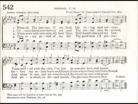 When All Thy Mercies, O My God (Manoah)