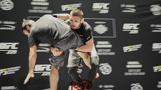 KHABIB NURMAGOMEDOV SHOWS OFF VIOLENT THROWS AHEAD OF HIS UFC 229 CONOR MCGREGOR TITLE FIGHT!