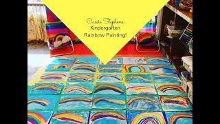 Kindergarten Rainbow Painting!